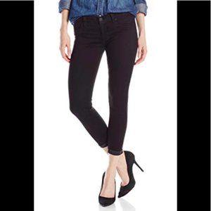 Hudson Harkin Crop Super Skinny Cuff Black Jeans
